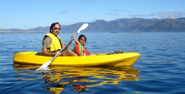 Dr. Ryan kayaking