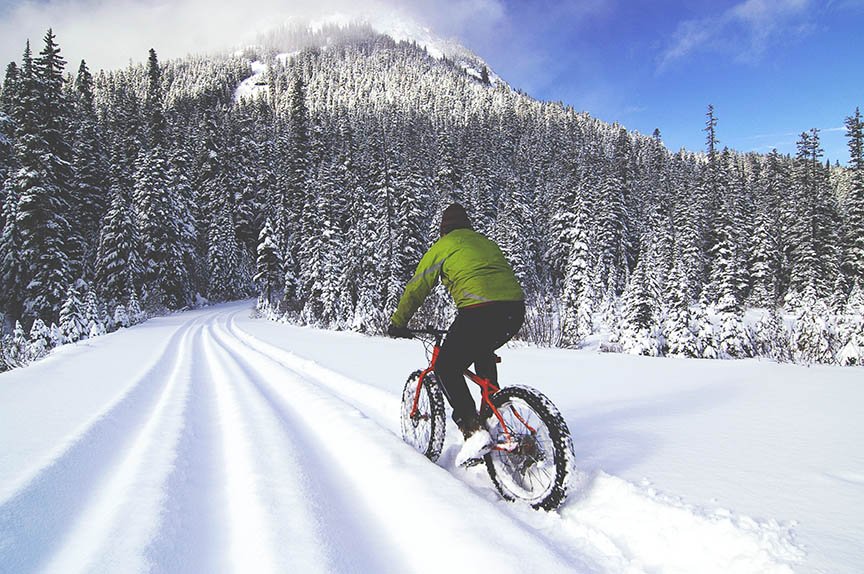 Fat bikes in Anchorage, Alaska's Kincaid Park