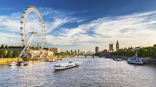 LONDON, View of Westminster Parliament, Big Ben and London Eye