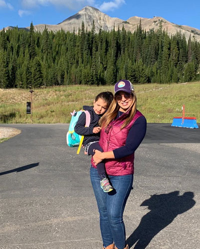 Woman and daughter in Montana