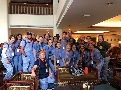 Group of doctors on medical mission