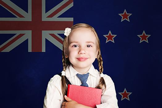 New Zealand school girl in uniform