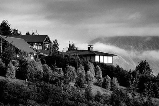 Hillside home in New Zealand