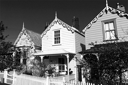 Small row houses in New Zealand