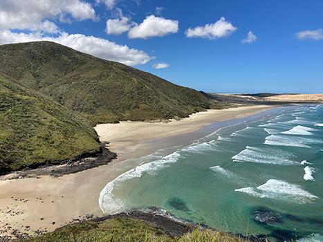 Far North region in New Zealand shoreline