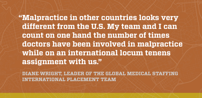 Quote about how malpractice looks in different countries