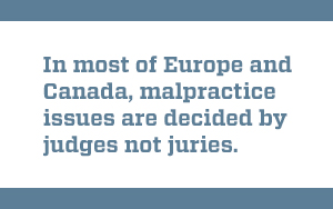 Quote about judges vs. juries in malpractice cases
