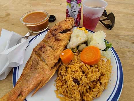 Fish dinner in St. Croix